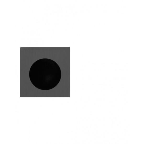 FT - Madielko do čela posuvných dverí hranaté MQ - HR BS - Čierna matná