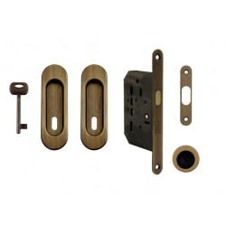 FT - Set na posuvné dvere - BB/D - R OGS - Bronz česaný matný lak