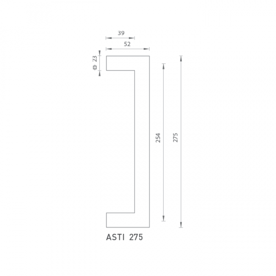 FO - madlo Asti 275 OC - Chróm lesklý