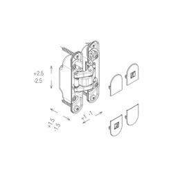 KZ - Skrytý záves Atomika - K8060 CP - Chróm perla