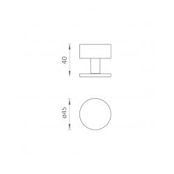 ATZ - Zarážka dverí na stenu -7612 BN - Brúsená nerez