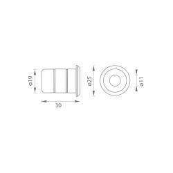 JNF - Podlahový protikus IN.17.400 BN - Brúsená nerez