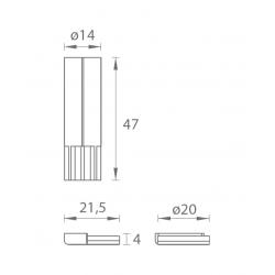 VM - Magnetická zarážka Model 1 BN - Brúsená nerez