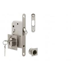 ATZ - Set na posuvné dvere PZ 3971K - hranatý BN - Brúsená nerez