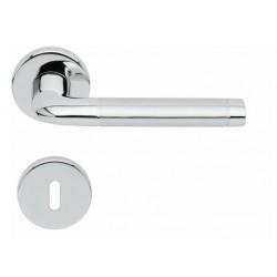 Kľučka na dvere SP - DUO - R PBP1101 LN/LN/BN - Leštená nerez / leštená nerez / brúsená nerez
