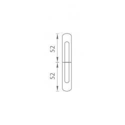 TI - Krytka na záves OGS - Bronz česaný matný lak