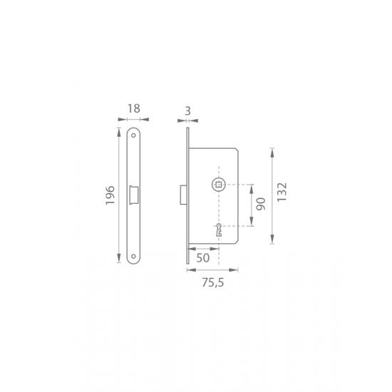 AGB - Magnetický zámok MEDIANA POLARIS BB N - Niklový komaxit