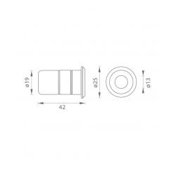 JNF - Podlahový protikus IN.17.401 BN - Brúsená nerez