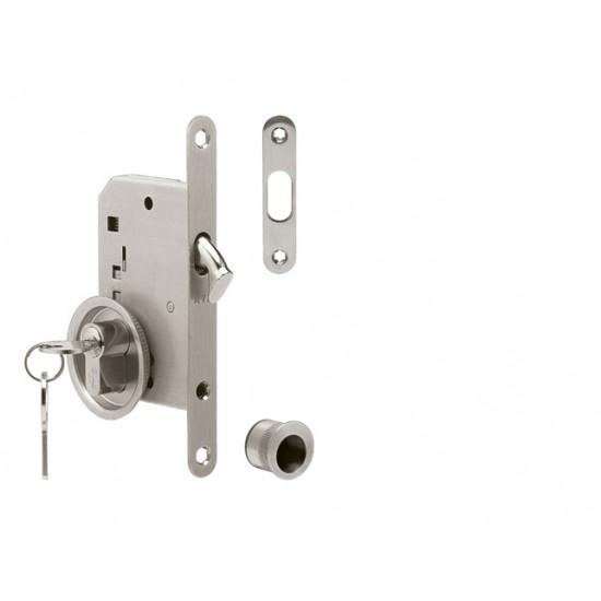 ATZ - Set na posuvné dvere PZ 3970K - okrúhly BN - Brúsená nerez