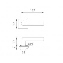 Kľučka na dvere AT - ARABIS - HR 7S OCS - Chróm brúsený