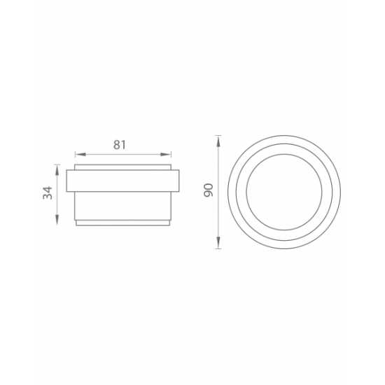 AXA - Zarážka dverí voľne stojaca - FS 90 BN - Brúsená nerez