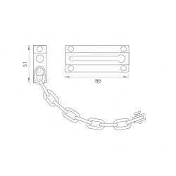 TI - Retiazka na dvere - 650 ONS - Nikel brúsený lesklý lak