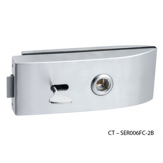 CT - 11000 Kovanie na sklenené dvere OCS - Chróm brúsený