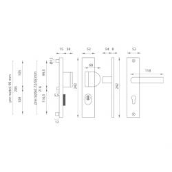 Bezpečnostné kovanie AXA - ATLAS2 PLUS F1 - Prírodný elox