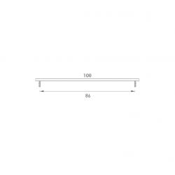 SRL - ALFA vetracia mriežka s výškou 100 mm F9 - Nerez elox
