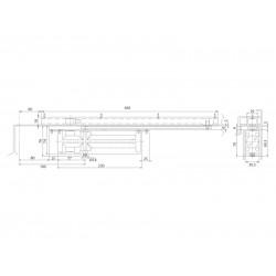 JNF - FREE LINE ML.21.800 Integrovaný samozatvárač S - Strieborná
