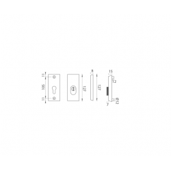 AXA - ROZETA ATLAS2 PLUS F6 - Inox elox