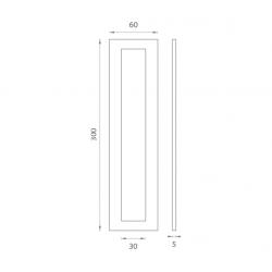 JNF - Mušľa na sklo IN. 16.559.A BN - Brúsená nerez