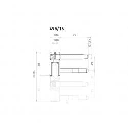 OV - Pánt nastaviteľný vrchný 495/16 BP - Biely pozink