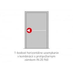 JNF - PANIKOVÉ KOVANIE NA SKLO 1B - IN.20.952.K2- 1D PK/KL SH NEREZ BN - Brúsená nerez