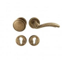 Spevnené kovanie MI - LYON / FIRENZE - R G OBA - Antik bronz