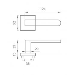 Kľučka na dvere MP - BISKIT HR NP/OC - Nikel perla/chróm lesklý