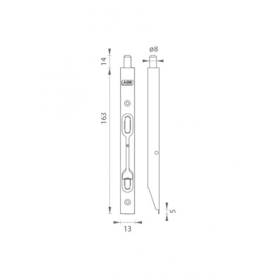 AGB - Zástrč F16 - H150 BP - Biely pozink