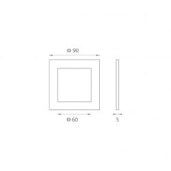 JNF - Mušľa na sklo IN. 16.551.A BN - Brúsená nerez