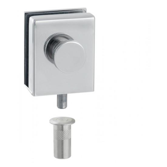 CT - CAT001 - 2A Podlahový zatvárací set na sklenené dvere OC - Chróm lesklý