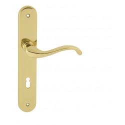 Kľučka na dvere FO - CAST OLV - Mosadz leštená lesklý lak