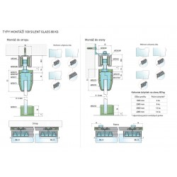 SC - POSUVNÝ SYSTÉM SERIES 100 SILENT GLASS 80 KG
