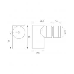 JNF - Magnetická zarážka dverí IN.13.189 BN - Brúsená nerez