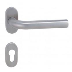 Kľučka na dvere MP - MONA - UOR BN - Brúsená nerez