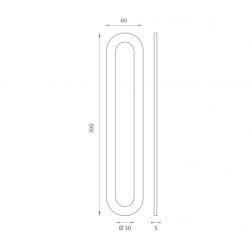 JNF - Mušľa na sklo IN. 16.563.A BN - Brúsená nerez