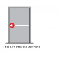DA - Jednobodové panikové kovanie na jednokrídlové dvere D1/1B S - Strieborná
