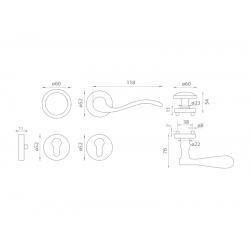 Spevnené kovanie MI - LYON / PAPERINO - R G OGS - Bronz česaný matný lak