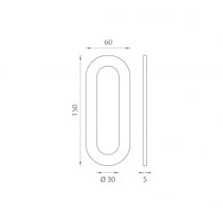 JNF - Mušľa na sklo IN. 16.562.A BN - Brúsená nerez