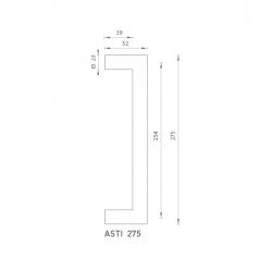 FO - madlo Asti 275 OC/OCS - Chróm lesklý / chróm brúsený