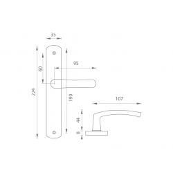 Kľučka na dvere KE - MICHAELA - UOS AS - Antik sivá