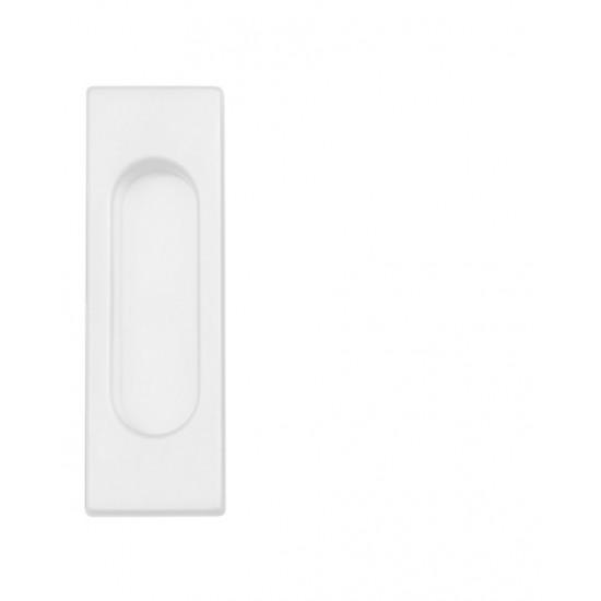 FT - Mušľa hranatá bez otvoru - 3663AC WS - Biela matná