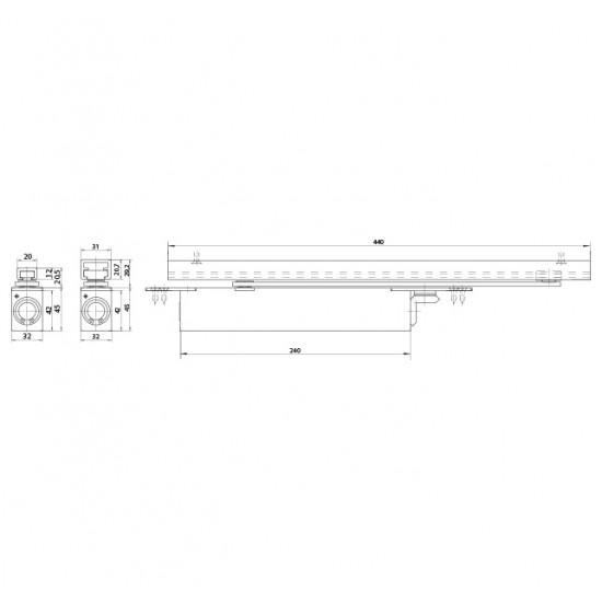 GZ - BOXER 3-6 Integrovaný samozatvárač S - Strieborná