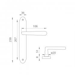 Kľučka na dvere MP - ALT WIEN OGS - Bronz česaný matný lak