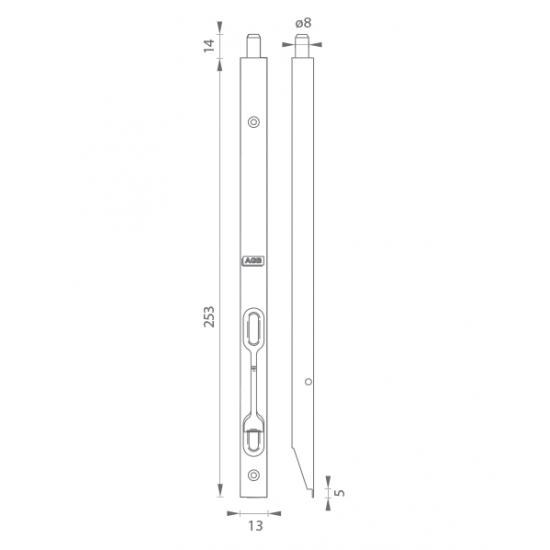 AGB - Zástrč F16 - H250 ONL - Nikel lesklý lak
