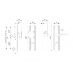 Spevnené kovanie MI - QB SECUR / ARTE ONS - Nikel brúsený lesklý lak