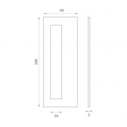 JNF - Mušľa na sklo IN. 16.561.A BN - Brúsená nerez
