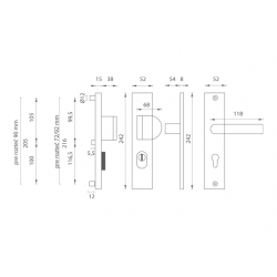 Bezpečnostné kovanie AXA - ATLAS2 PLUS F6 - Inox elox