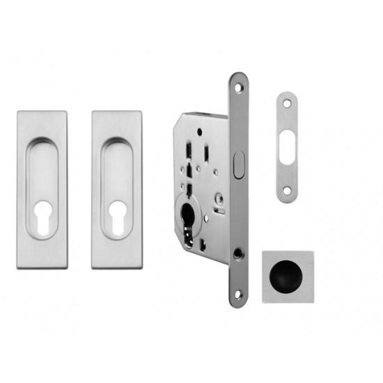 FT - Set na posuvné dvere - PZ/D - HR OCS - Chróm brúsený