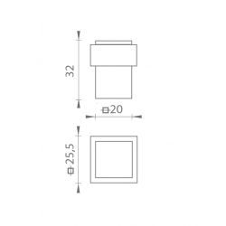TI - Podstavec pod zarážku - 2617 OC - Chróm lesklý