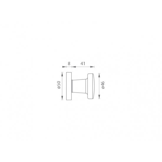 GI - Guľa 7071 - R F9 - Nerez elox