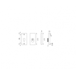 AXA - ROZETA ATLAS2 PLUS B - Biely komaxit